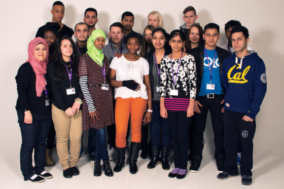 Large group of ESOL students