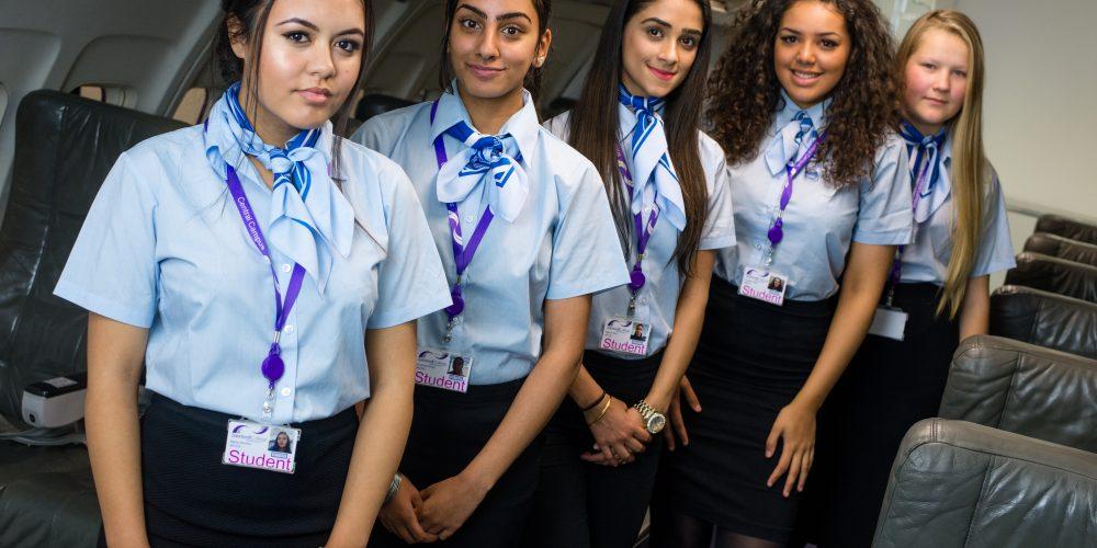 Group photo of Travel, Aviation & Hospitality female students