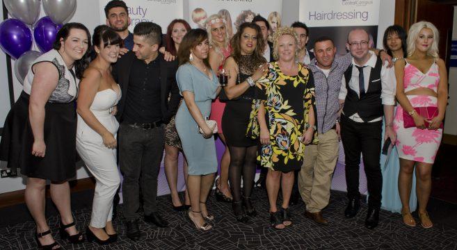 Hair & Beauty award winners and staff