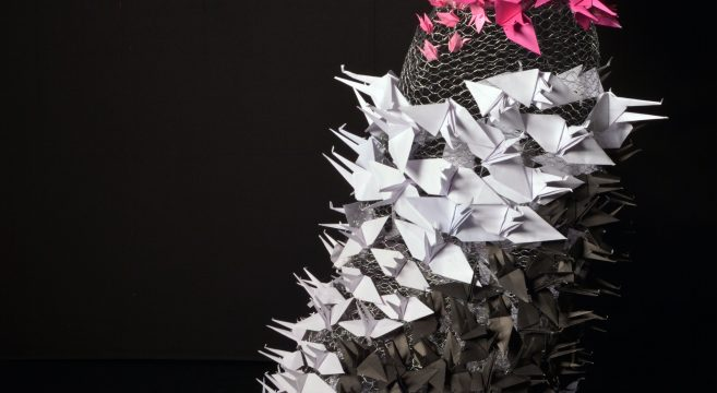 Origami wire dress created by student