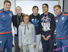 Foundation Learning students with WBA players