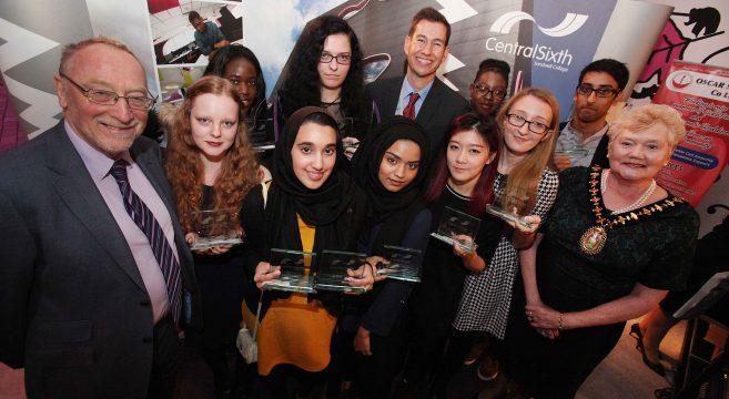 Award winners with Mayor and MP