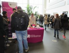 Students attending HE fayre