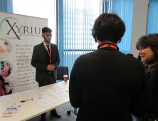 Employers talking at careers fayre