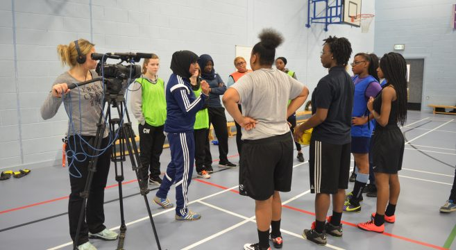 Coaching session being filmed