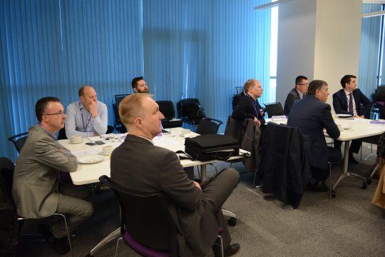 Business Breakfast meeting attendees
