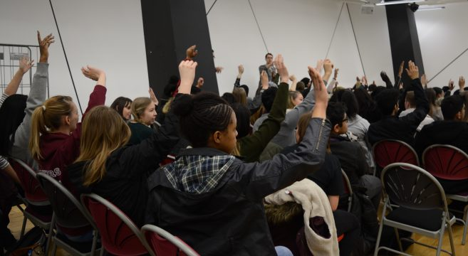 Show of hands from audience