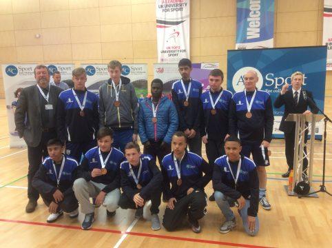 Medal winning football team