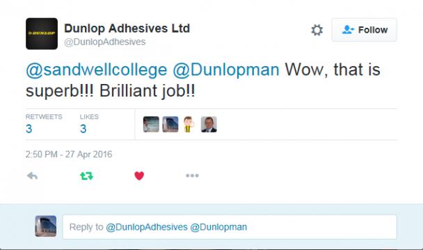Dunlop Adhesives tweet