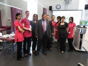 Khalid Mahmmod MP meets Beauty Therapy students