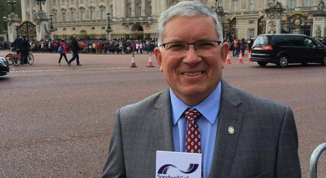David Hughes at Buckingham Palace