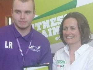 Liam Read was third in Fitness Trainer competition