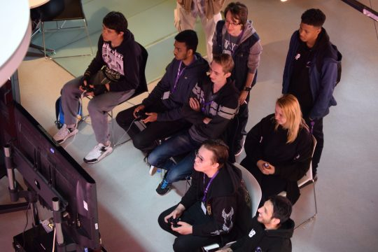 Group of students in gameathon