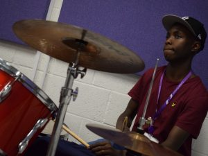 Hakim on drums