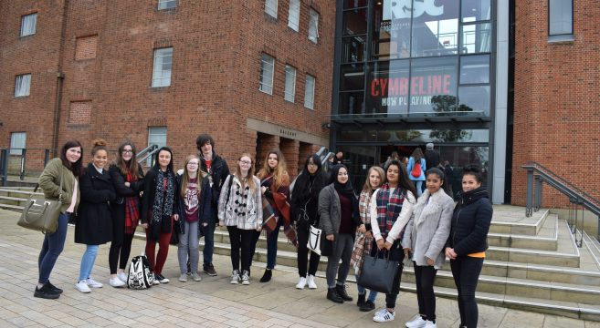 Group of students at RSC theatre