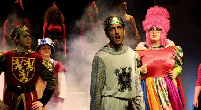Performing arts student pictured performing Camelot at the Sandwell College theatre