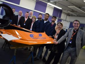 Hovercraft with Sandwell Council cabinet