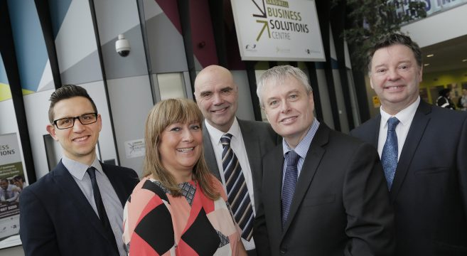 Principal Graham Pennington pictured with Sandwell business leaders