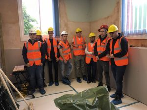 Construction students at Rolfe St Station