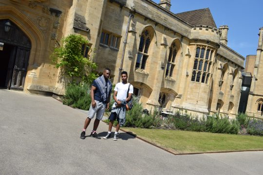 Two male students at Oxford University