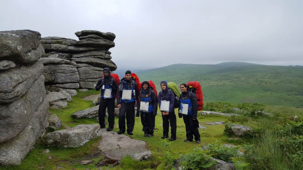 Group of students participating in a DofE activity