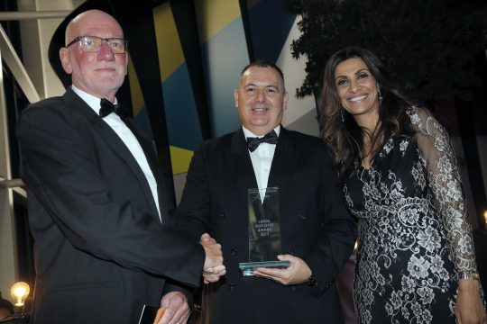 Lovell Partnership receiving the Large Employer of the Year award