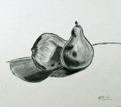 Sketch drawing of pear
