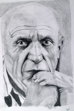 Drawing sketch of a man