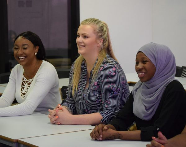 Female Health & Social Care adult learners smiling