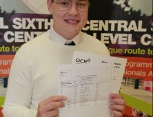 David Nemec pictured with his results