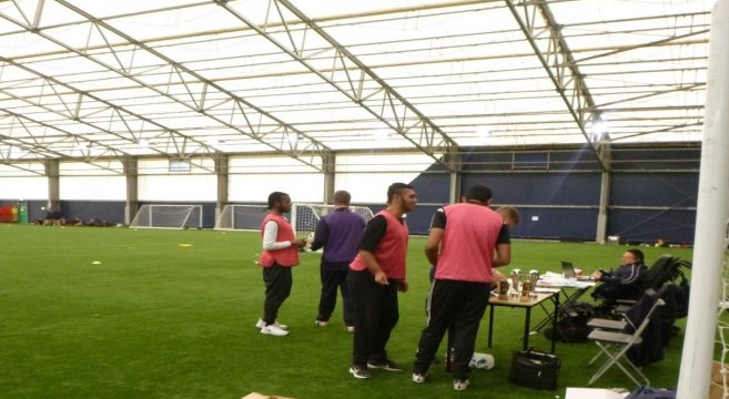 Foundation Learning students on a football pitch