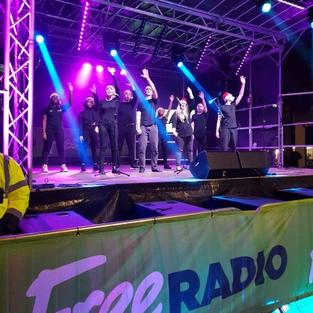 PERFORMING ARTS SHINE AT CHRISTMAS LIGHTS SWITCH ON!