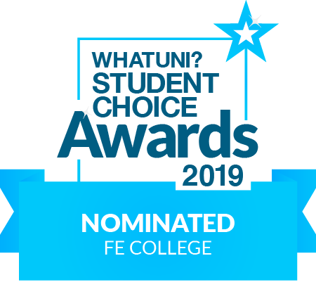 WE'VE BEEN SHORTLISTED FOR FE COLLEGE OF 2019!