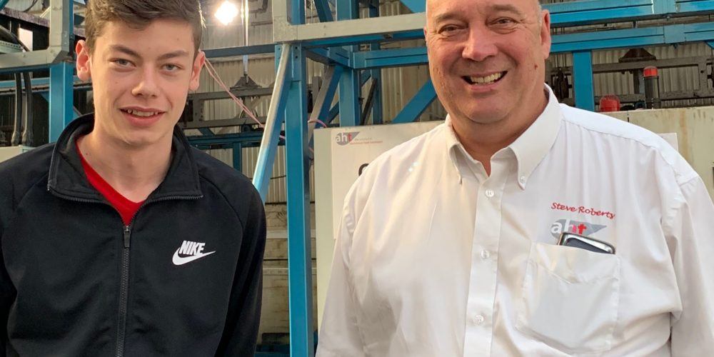 New AHT apprentice Thomas Embrey with Quality Director Steve Roberts