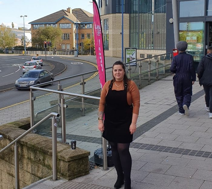 Aleksandra Zurowska pictured outside Sandwell College campus