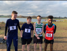 Male students at Cross Country championships
