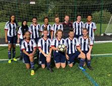 Group photo of female football players