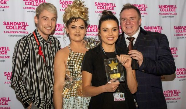 Hairdressing competition award ceremony