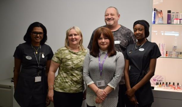 Beauty students with Autism West Midlands members