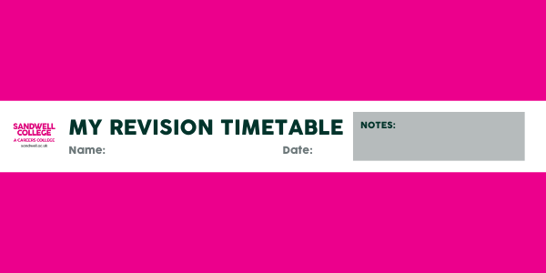 revision timetable cover