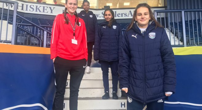Group of West Bromwich Albion Female Academy players