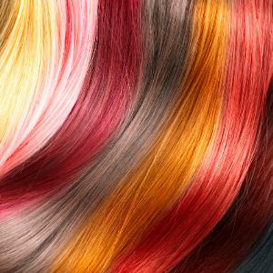 Various different hair colours