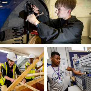 Collage of Construction, Automotive and Engineering students