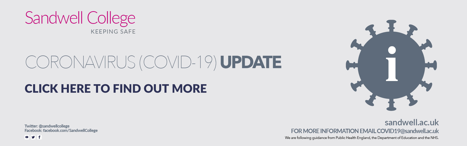 Click here to find out more about our latest COVID-19 update