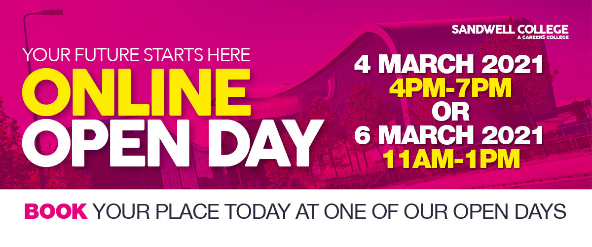 Book Your Place For March 4th or March 6th Online Open Day