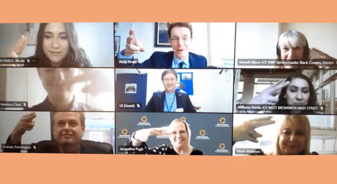 Zoom meeting of virtual ribbon cutting ceremony
